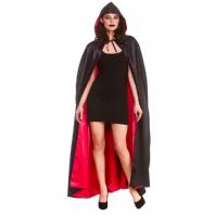 Deluxe Halloween Cape - Black with Red Lining(HC9407)